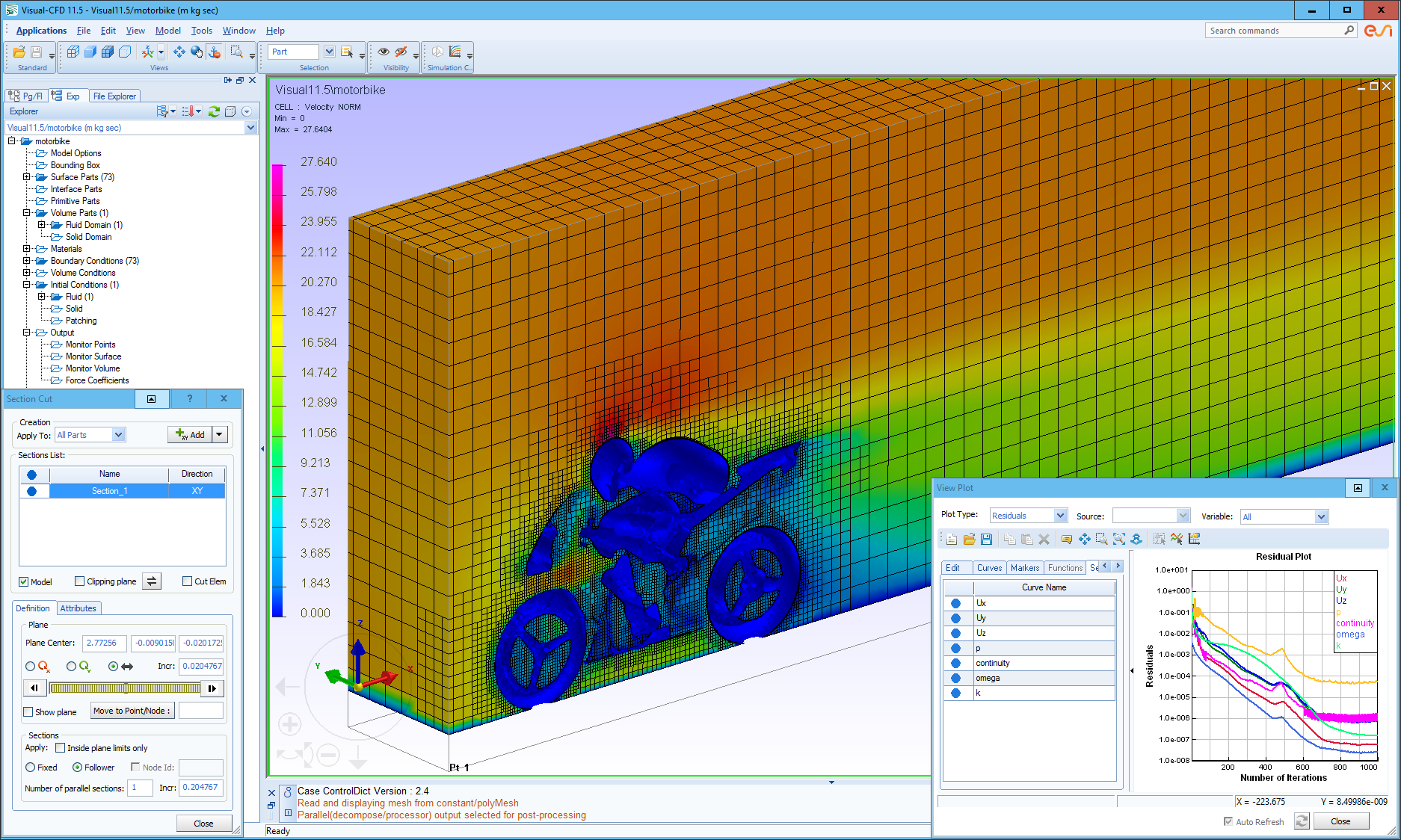 Snapshot of the Visual-CFD environment.