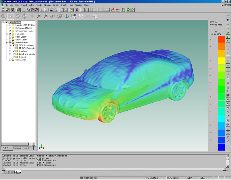 Predict diffraction of source around vehicle with FMM