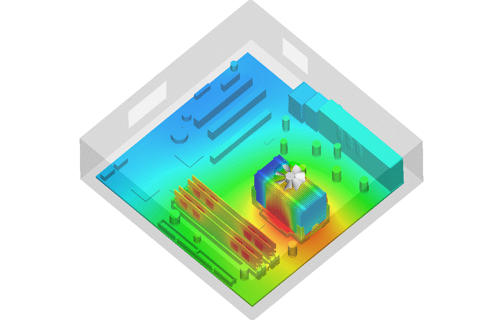 CPU die thermal simulation
