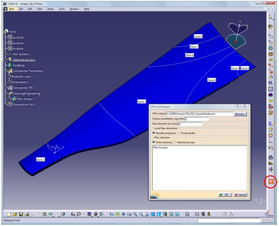 CPD-to-ESI plug-in within CATIA CPD