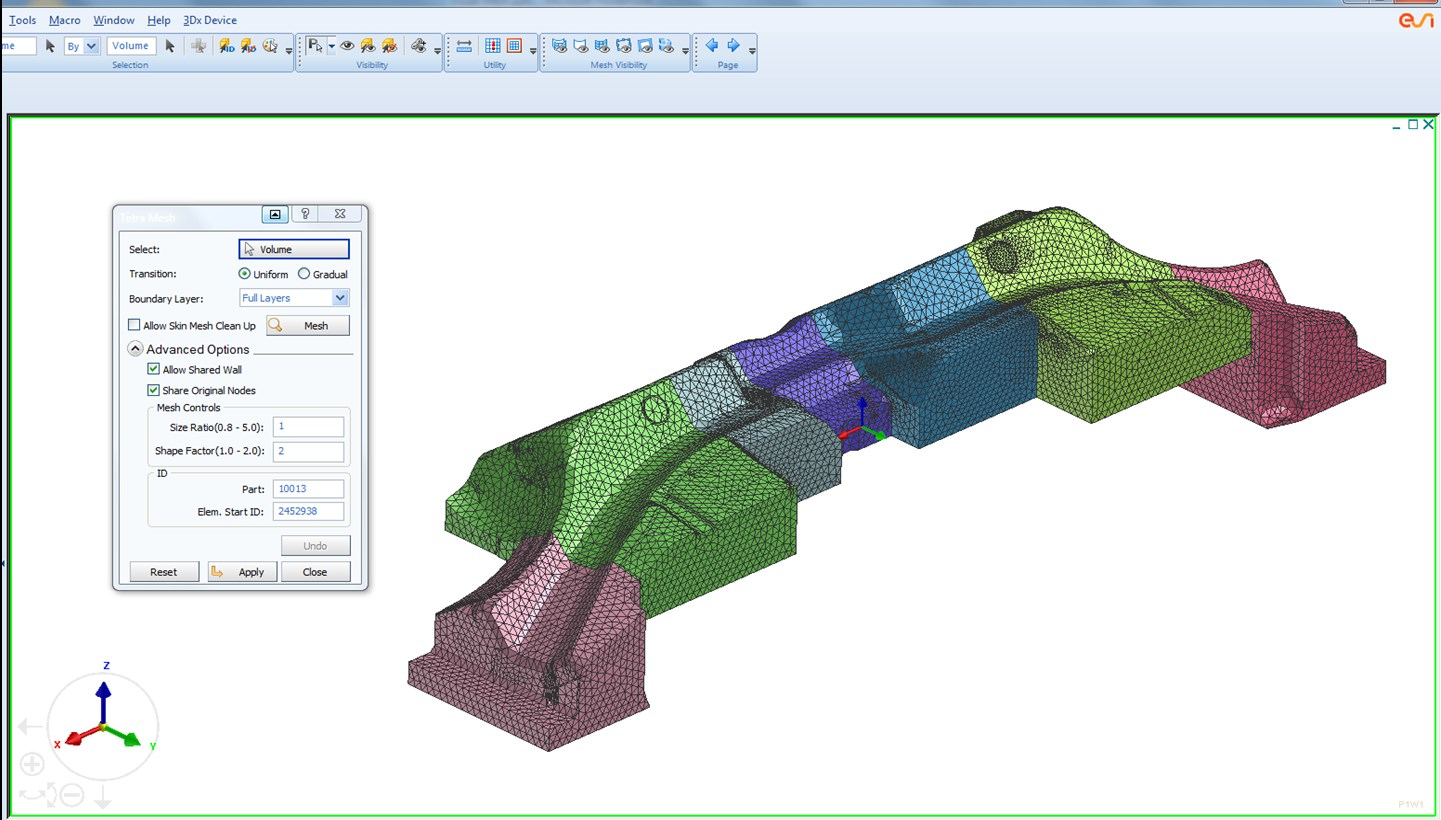 Dedicated tool meshing for heat transfer analysis – Courtesy AP&T